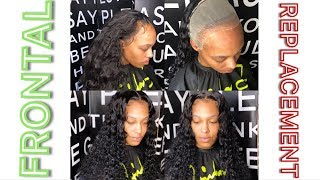 How to replace a frontal   Frontal sew in + baby hair tutorial   HAIRBYERICKAJ.COM