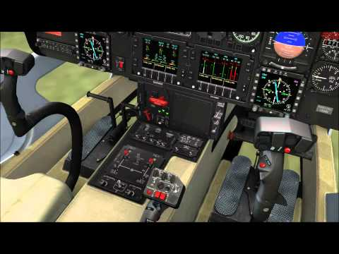 FSX Agusta Westland 109 Startup and Take-off