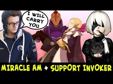 Miracle ANTI-MAGE + support INVOKER 2B — same lane