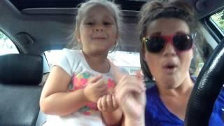 Teigan and mom singing open doors