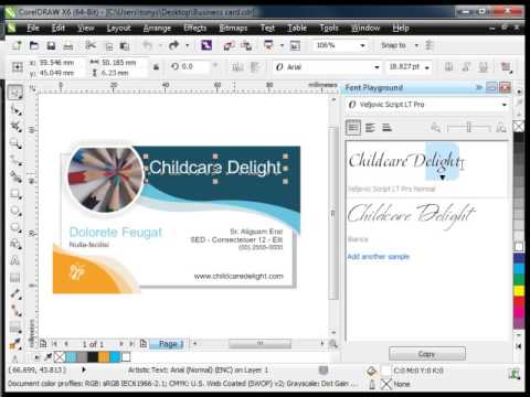 CorelDRAW Graphics Suite X6.4 Update - Choosing fonts with Font Playground