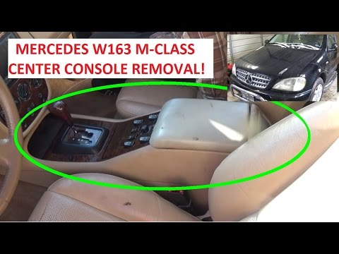 Center Console Arm Rest Removal and Replacement Mercedes w163 ML230 ML320 ML350 ML430 ML500 ML400