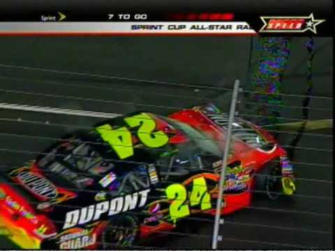 2009 Nascar Sprint Cup All-Star Race - Jeff Gordon Crash!