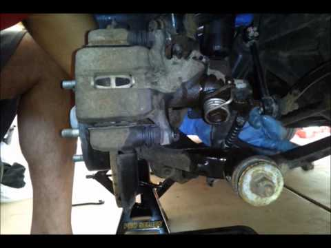 2007 Honda Accord V6 Rear Brake Caliper Removal and Replacement - Part 1