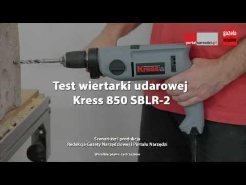 Test wiertarki udarowej Kress 850 SBLR-2