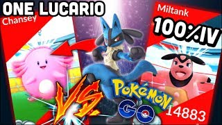 Only 1 Lucario VS Chansey raid no boost in Pokemon GO | AMAZING 100% IV MILTANK FROM MY FIRST RAID