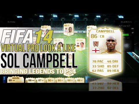FIFA 14 PS4 | VIRTUAL PRO LOOK A LIKES | SOL CAMPBELL