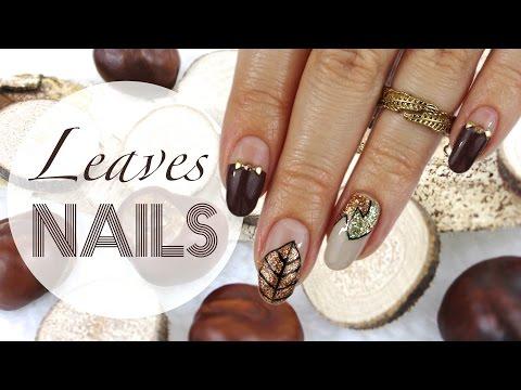 Design 9: Nature | Fall Leaves Nail Art ♡ video