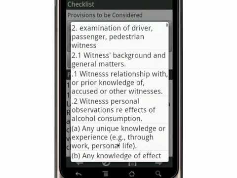 Canvas Impaired and Over 80 Trial Examination of Witnesses Checklist Canada   Mobile App
