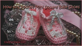 How to Crochet Mini Square Baby Shoes
