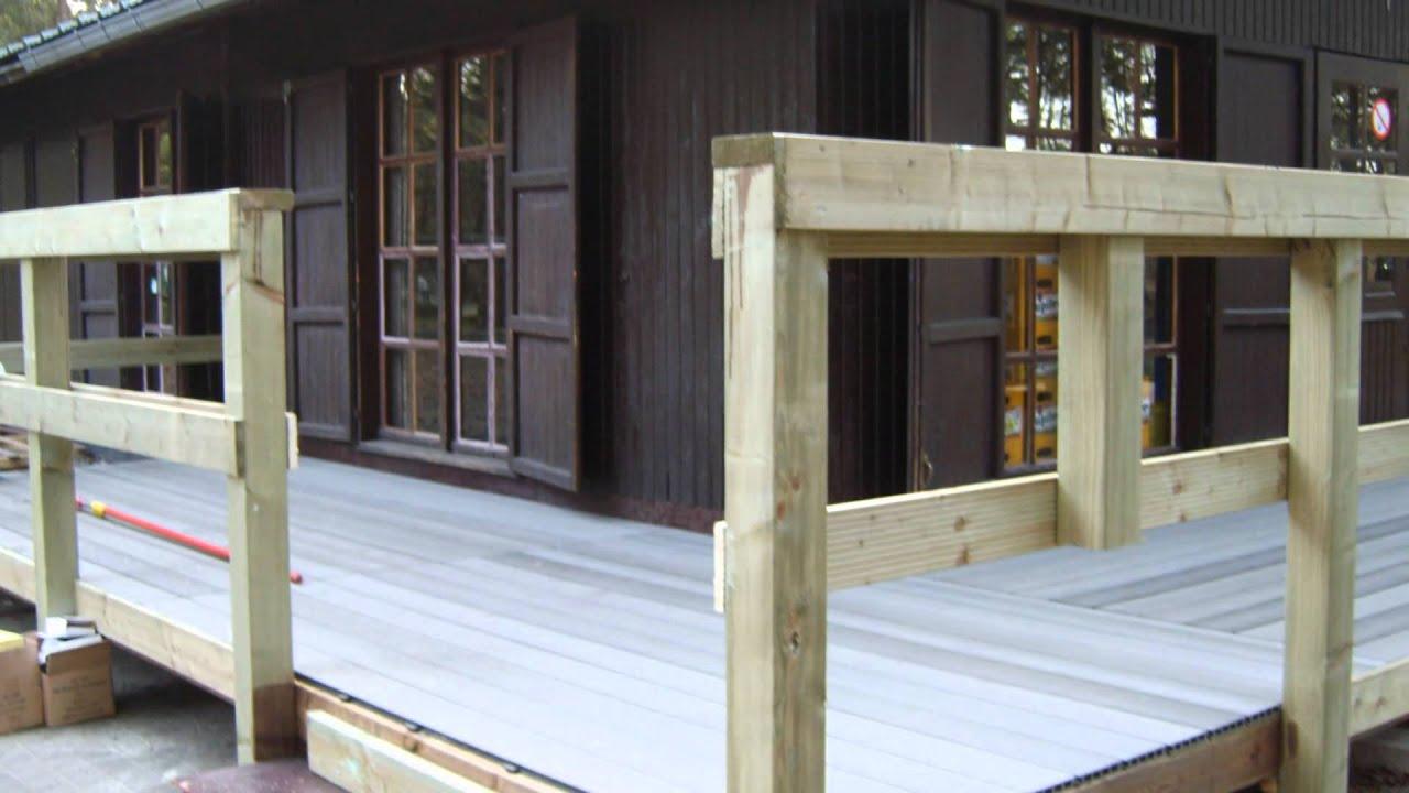 Opbouw terras hout en composiet youtube - Terras hout ...