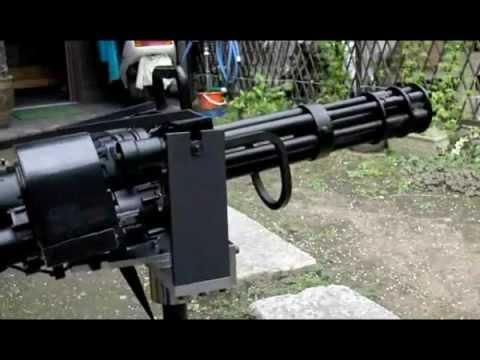 Airsoft M134 tripod test