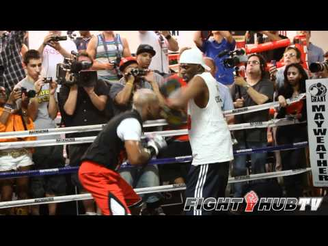 Floyd Mayweather jr. vs. Miguel Cotto: Mayweather workout video highlights