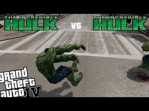 GTA IV Hulk Mod with Powers - Hulk vs Hulk Rematch