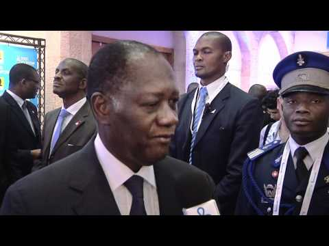 An interview with Pres. Alassane Ouattara of Ivory Coast, Israeli Presidential Conference 2012