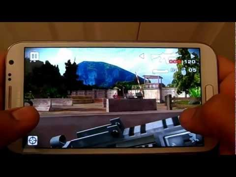 SAMSUNG GALAXY NOTE 2 BATTLE FIELD BAD COMPANY 2 GAMEPLAY