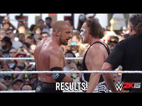 Wwe Wrestlemania 31 Sting Vs Triple H Result! video