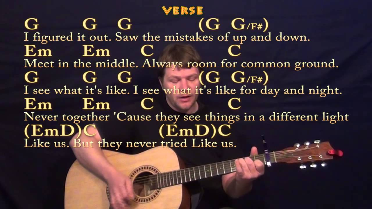 You and I (One Direction) Guitar Strum Cover Lesson with Chords/Lyrics - YouTube