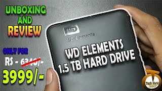 WD ELEMEMT 1.5TB HARD DRIVE UNBOXING & REVIEW | At Just RS 3999/-