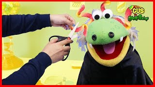 Pretend Play Toys Gus' First Haircut Cutting Hair Learning Toys Funny Video with Gus the Gummy Gator