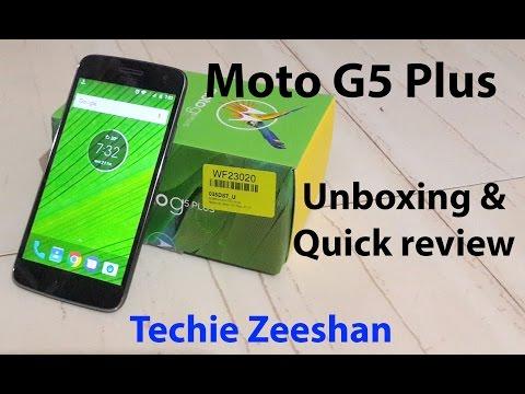 Moto G5 Plus- Unboxing & Quick Review