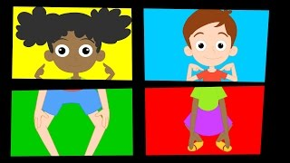 Head Shoulders Knees and Toes | Nursery Rhyme