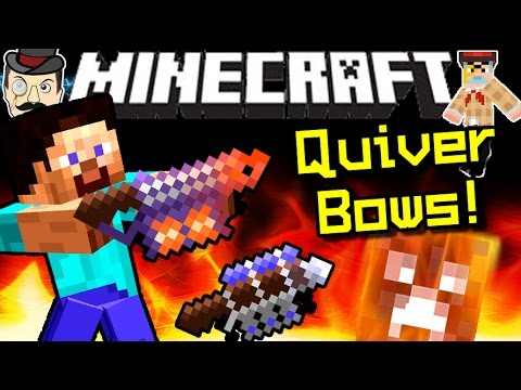 Minecraft QUIVER BOWS! Innovative, Balanced & Powerful!