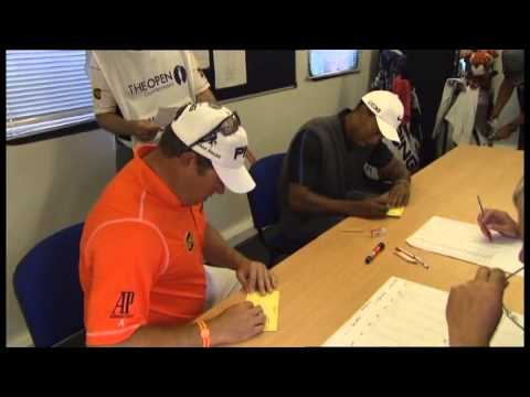 Lee Westwood and Tiger Woods in The Recorders Office, Muirfield Third Day