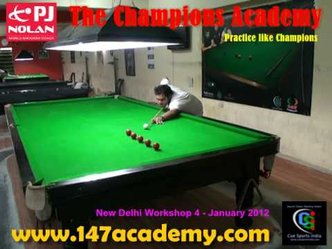 PJ Nolan Cue Sports India Snooker Training Workshop January 2012 - Workshop Group 4