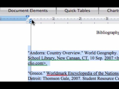 Writing a List of Works Cited or BIBLIOGRAPHY for your paper