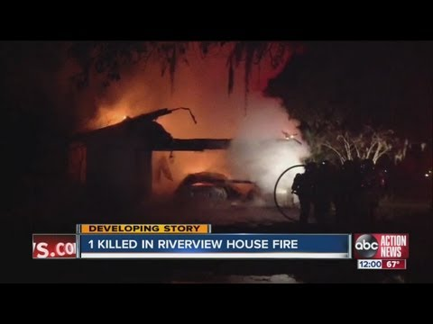 0 Riverview mobile home fire kills one person