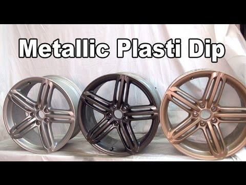 True Metallic Plasti Dip - Aluminum. Anthracite & Vintage Gold