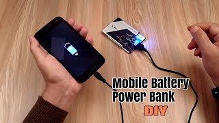 How to Make a Power Bank using old Mobile Phone Battery's -  Homemade