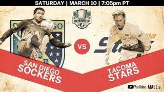 San Diego Sockers vs Tacoma Stars