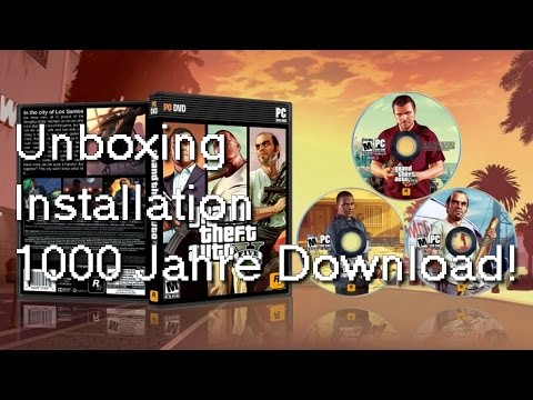 Grand Theft Auto 5 PC - Unboxing. Installation. 1000 Jahre Download! (VLog)