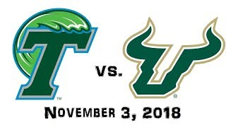 November 3, 2018 - Tulane Green Wave vs. South Florida Bulls Full Football Game