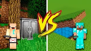 MINECRAFT - NOOB VS PRO: SECRET BASE in Minecraft (Secret Bunker)