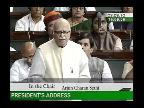 Motion of Thanks on the Presidents Address: Sh. Lal Krishna Advani: 03.03.2010