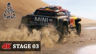 DAKAR 18 DUNES - Rally Game [4K CARS - FULL Stage 03 (Pisco - Marcona) Toyota - Nasser Al Attiyah
