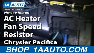 How To Install Replace AC Heater Fan Speed Resistor Chrysler Pacifica 04-07 1AAuto.com