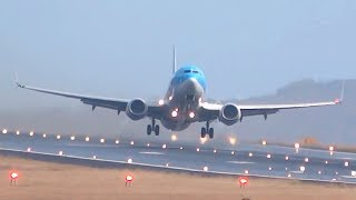 JUST AMAZING on a WET RUNWAY ✈️💦 Various Airplanes || MADEIRA airport landing