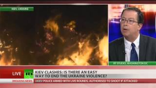 World powers deeply involved in the Ukrainian crisis  2/20/14  (Riots)