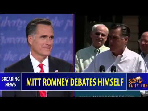 Mitt Romney debates himself