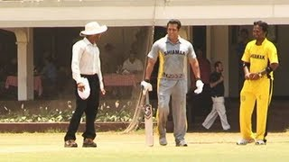 Salman Khan batting at JUNOON - Celebrity Charity Cricket Match.