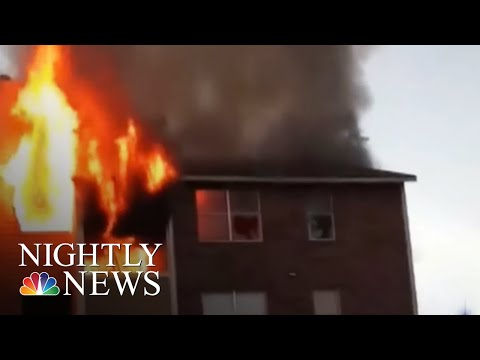 Dozens Of Families Homeless After Fire Rips Through Dallas Apartment Complex | NBC Nightly News