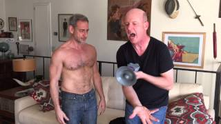 Terry Ray gives a revealing Gaydar Gun zap to the very hot & naked David Pevsner!