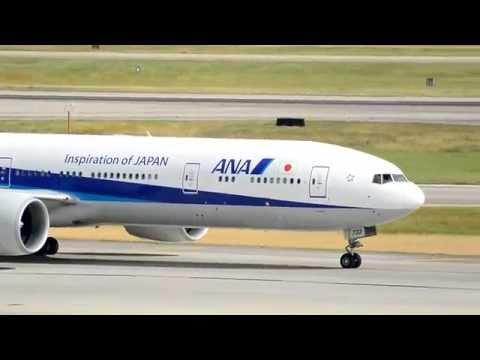 All Nippon Airways NH174/173 777-381ER Inaugural service to Houston KIAH 06-12-2015