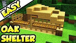 Minecraft Starter Oak Shelter House Tutorial (How to Build)