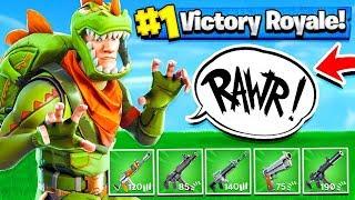 THE JURASSIC PARK CHALLENGE!! Fortnite: Battle Royale