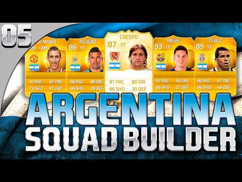 FIFA 15 UT – SQUAD BUILDER – EP. #05 – ARGENTINA - MESSI, CRESPO e AGUERO - CROCODILLOGAMES